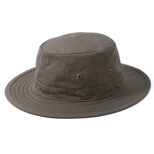 Khaki Small 55cm Cotton Summer Sun Hat - Floats - Failsworth Traveller - last one reduced to clear